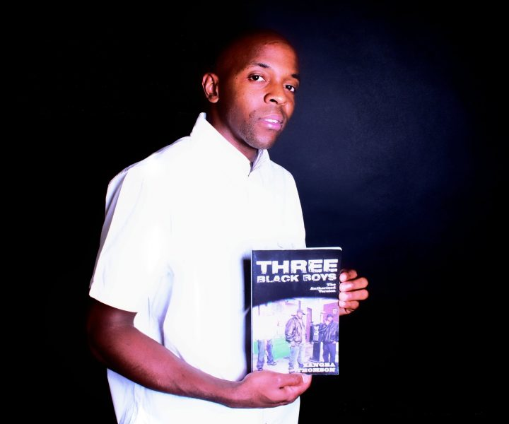 Zangba & Nas holding the original 'Three Black Boys' street book. photo by IshmelTwice