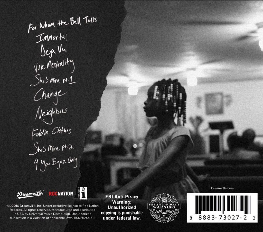 J. Cole back cover art