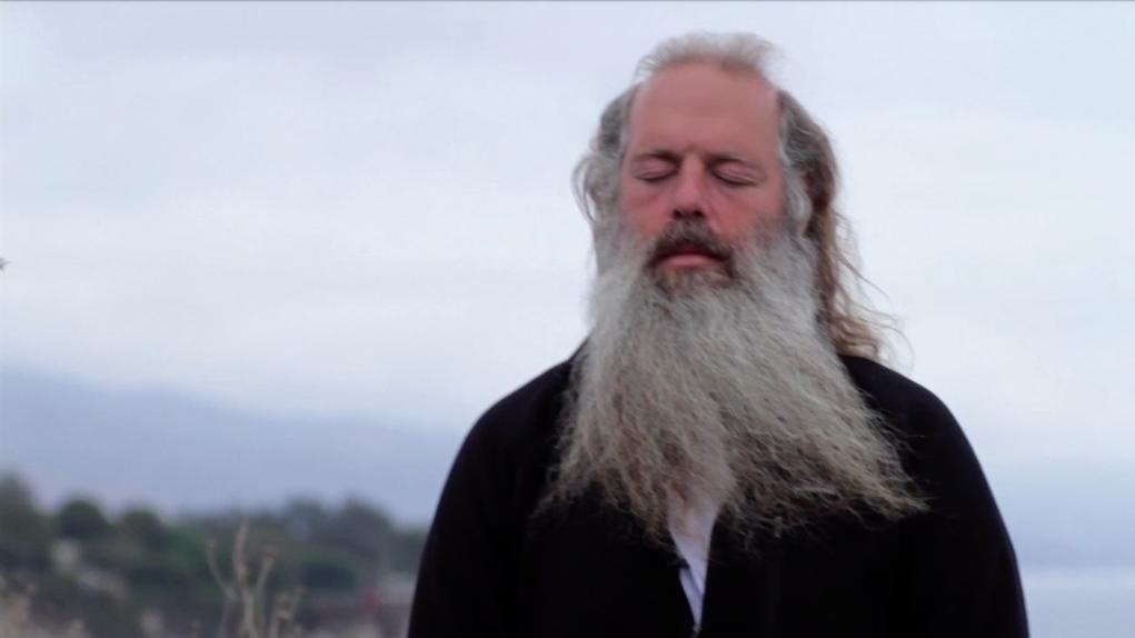 Rick Rubin meditating