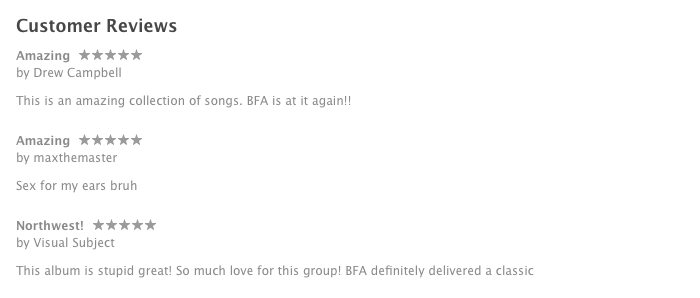 Brothers From Another iTunes Reviews