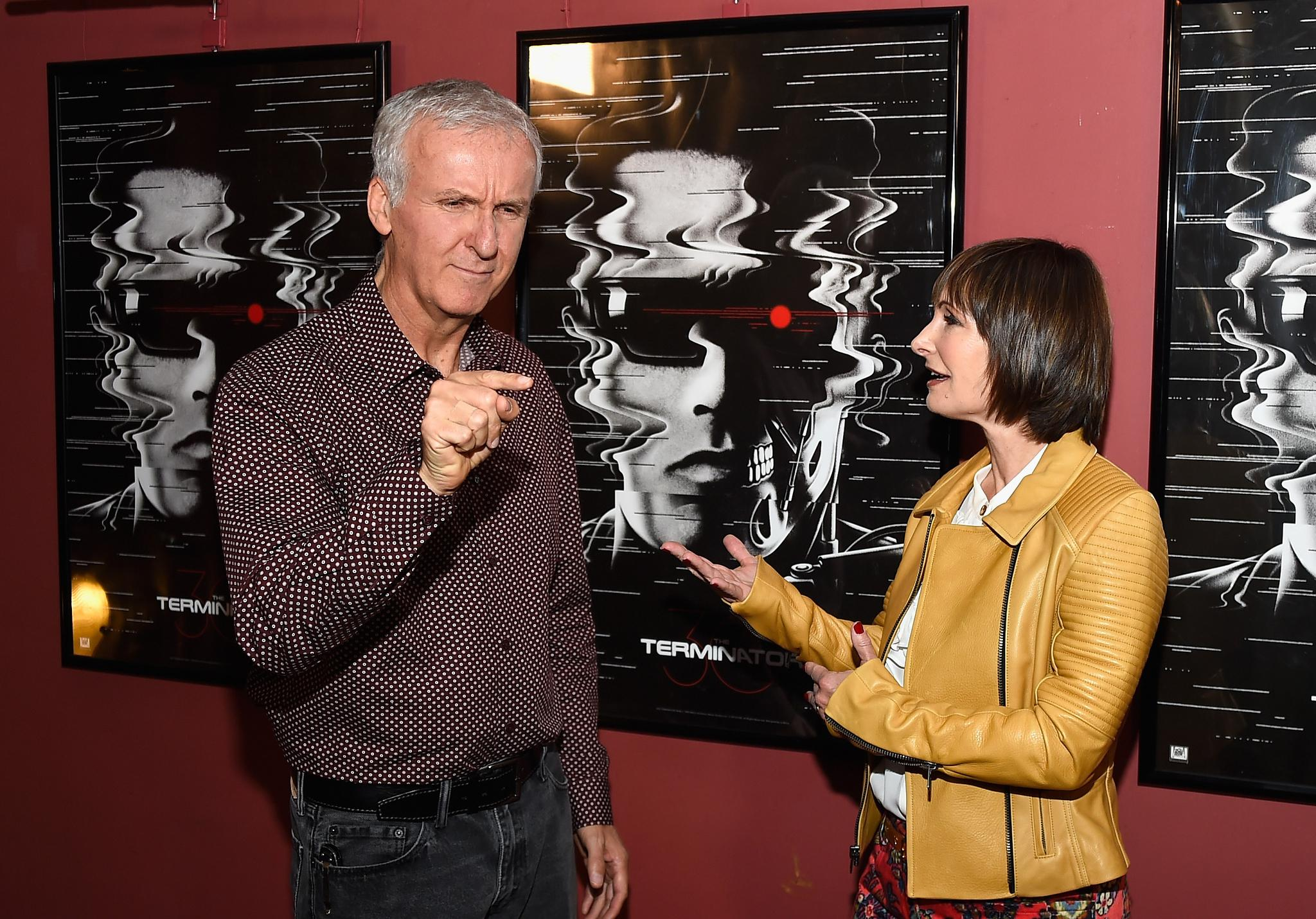 Sophia Stewart + (james-cameron-and-gale-anne-hurd-at-event)