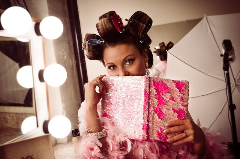 Ciara Brooke holding her Diva Diary