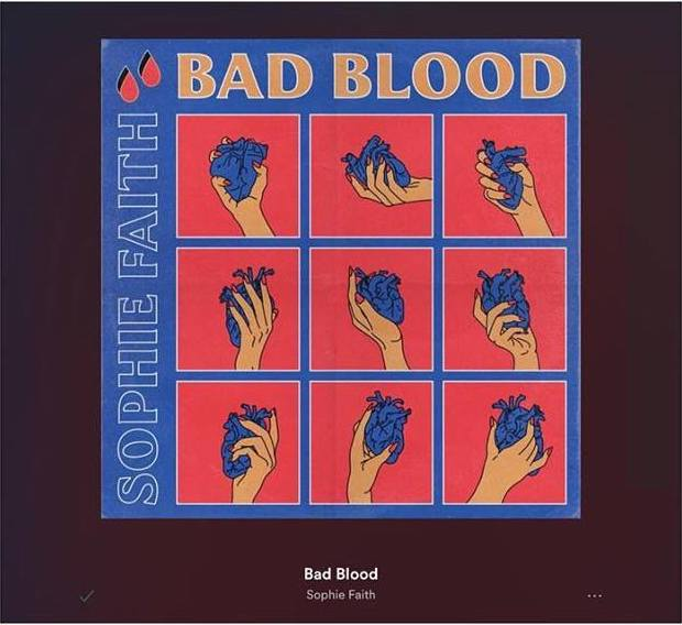 Sophie Faith + Bad Blood artwork
