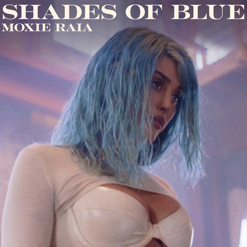 """Moxie Raia + """"Shades of Blue"""" artwork"""