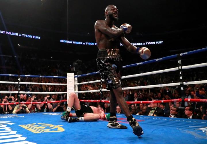 Deon Wilder versus Tyson Fury stills