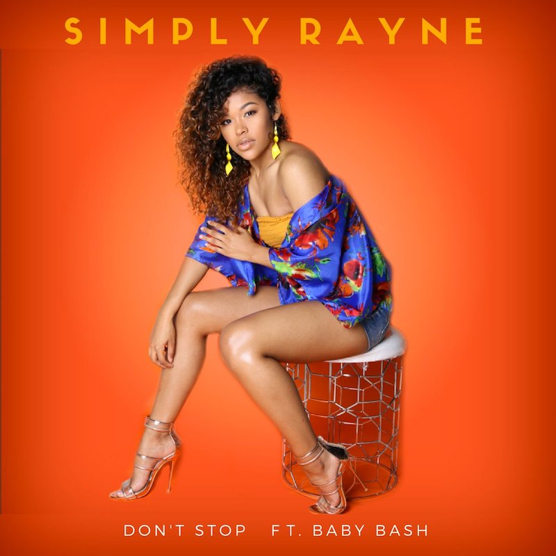 "Simply Rayne – ""Don't Stop"" artwork"