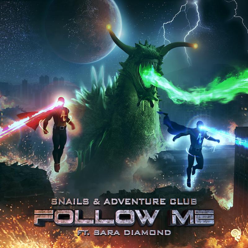 "Snails & Adventure Club – ""Follow Me"" feat. Sara Diamond artwork"