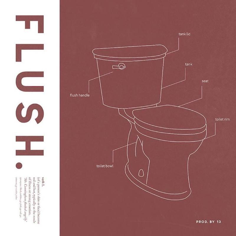 "Abhi The Nomad – ""Flush"" artwork"