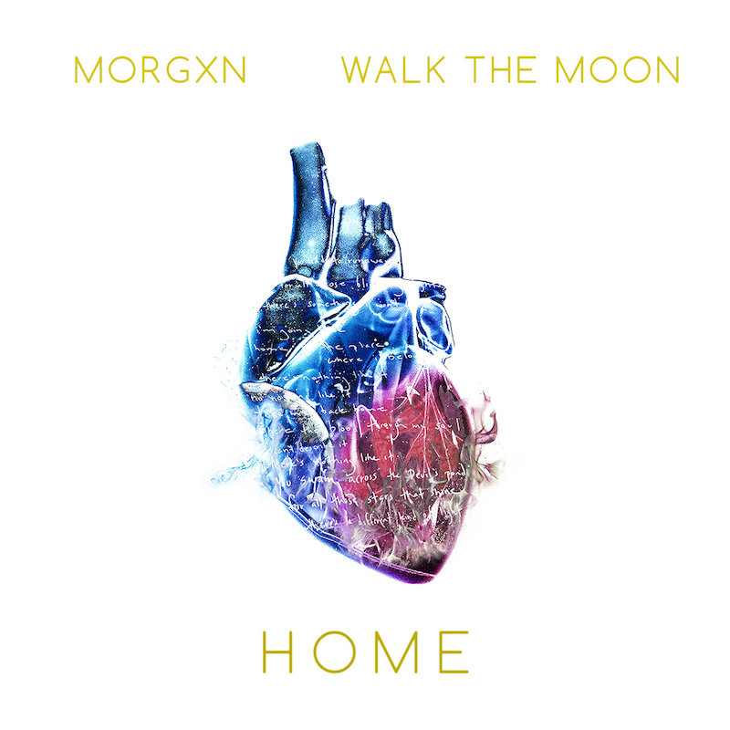 "Morgxn – ""home"" artwork featuring WALK THE MOON"